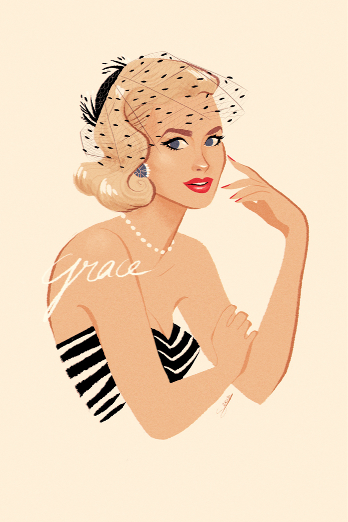 portrait pin up